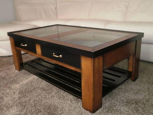 Mueble Mesa Centro Elevable Clasico Contemporaneo Cerezo Negro Tuesta