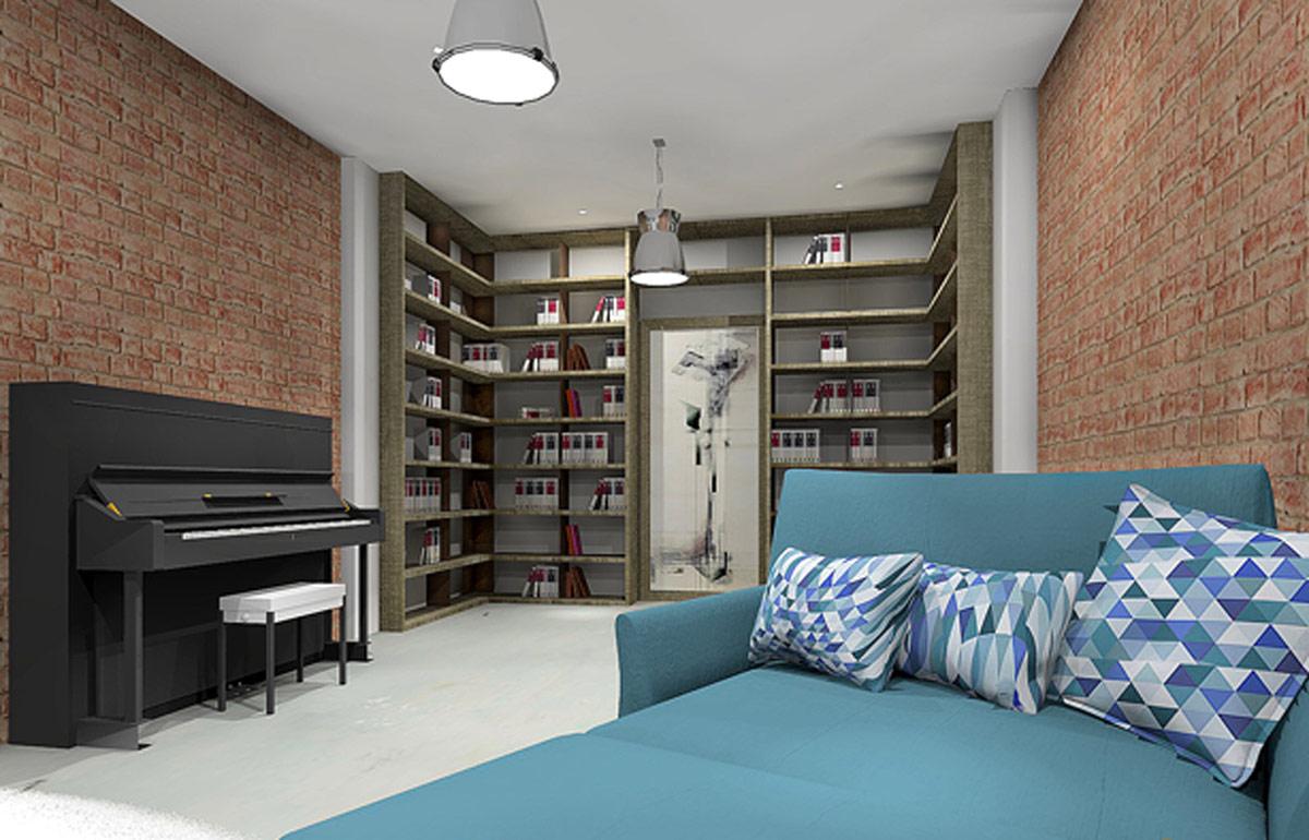 Proyecto-diseño-salon-lectura2-garage-industrial-roble-hierro-tuesta