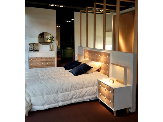 Tuesta Dormitorio Chester Roble Macizo Nordico Vintage Laca Detalle 1