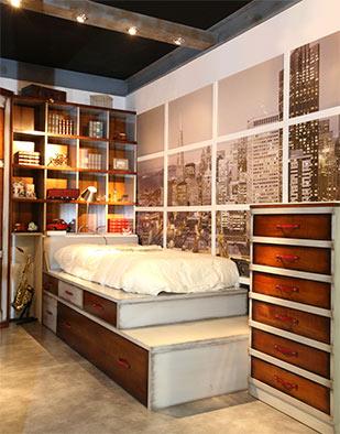 Tuesta Dormitorio Juevnil Albor Cerezo Laca Envejecida Conjunto 1