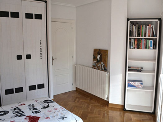 Tuesta Dormitorio Juvenil Rock Personalizado Pino Blanco Libreria