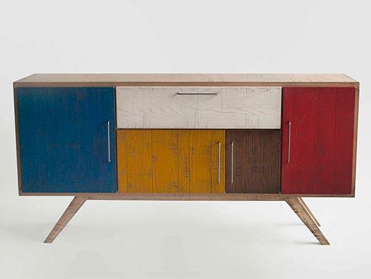 Tuesta Mueble Salon Colors Industrial Roble Vintage Diseo Aparador