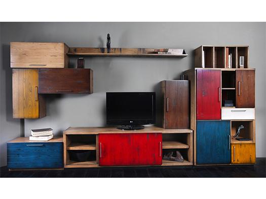 Tuesta Mueble Salon Colors Industrial Roble Vintage Diseo Composicion1