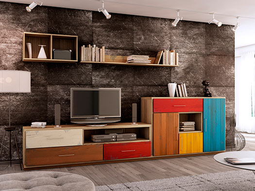 Tuesta Mueble Salon Colors Industrial Roble Vintage Diseo Composicion2