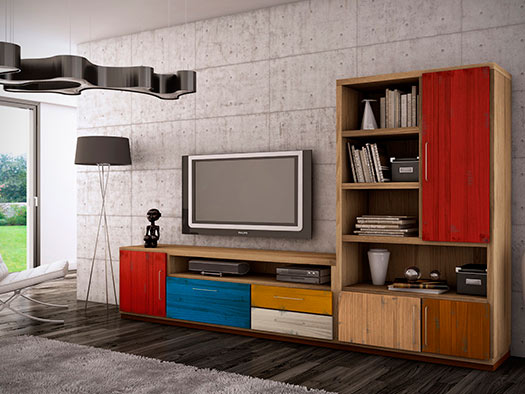 Tuesta Mueble Salon Colors Industrial Roble Vintage Diseo Composicion3