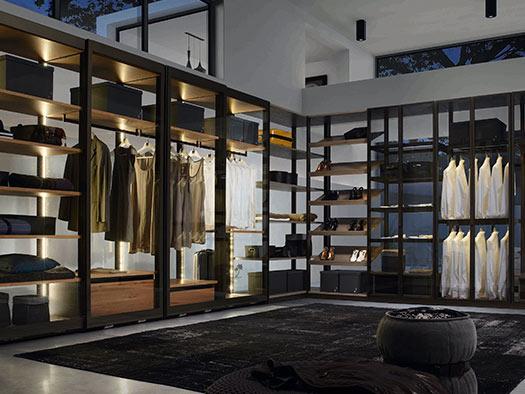 Tuesta Proyectos Interiorismo Vestidor Aluminio Cristal Moderno