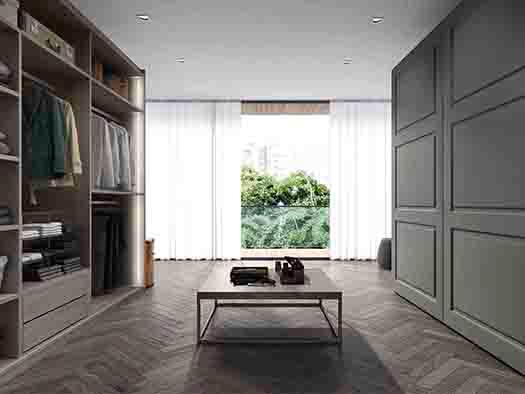 Tuesta-proyectos-interiorismo-vestidor-laca-abierto-moderno-puertas-corredera-correderas