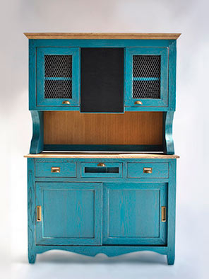 Tuesta Almacenaje Alacena Roble Macizo Color Azul Personalizable